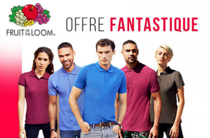 Promotion sur polos Fruit of the Loom