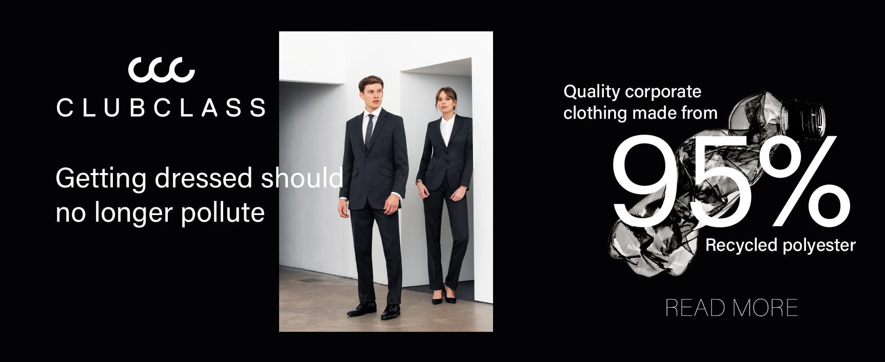 Vêtements d'entreprise en polyester recyclé à 95%